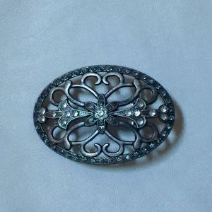 Accessories - Pewter diamante belt buckle